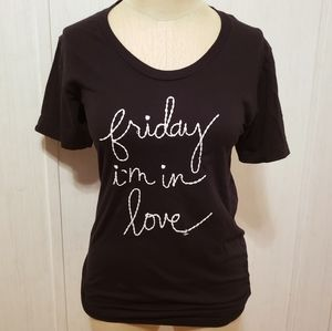 """American Apparel """"Friday I'm in Love"""" Tee"""